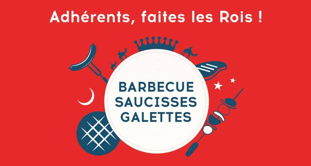 adhérents barbecue saucisses galettes