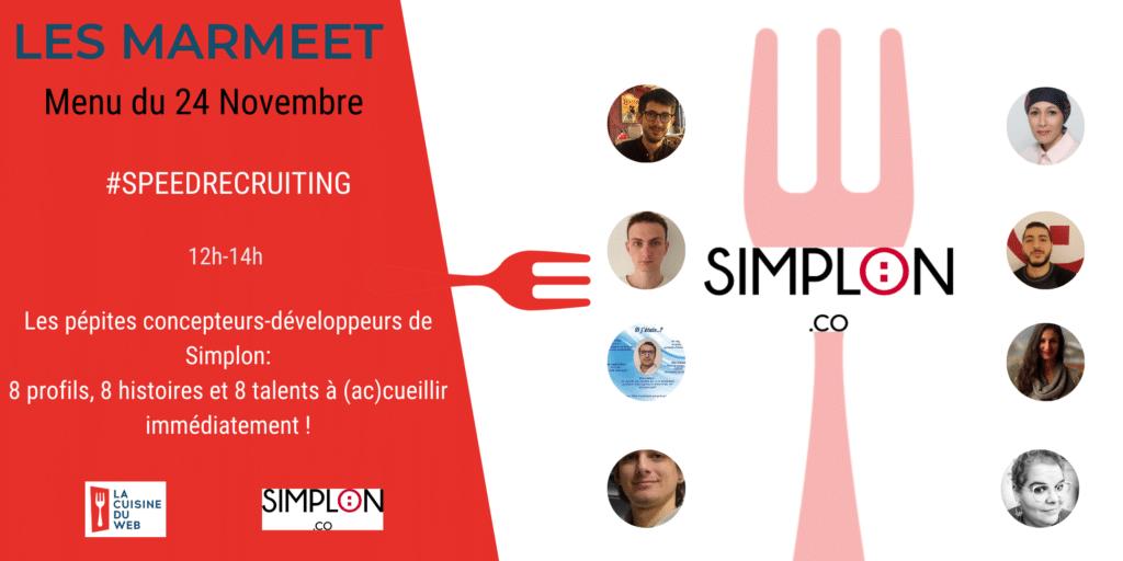 #Marmeet : SPEEDRECRUITING AVEC SIMPLON